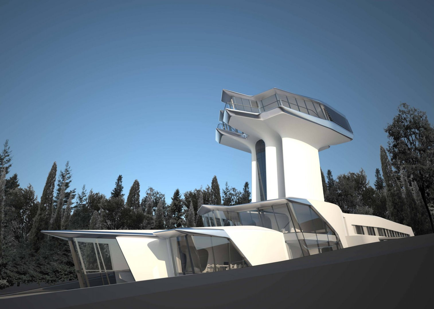 Capital Hill Residence Russia  Zaha Hadid Architects  The Superslice