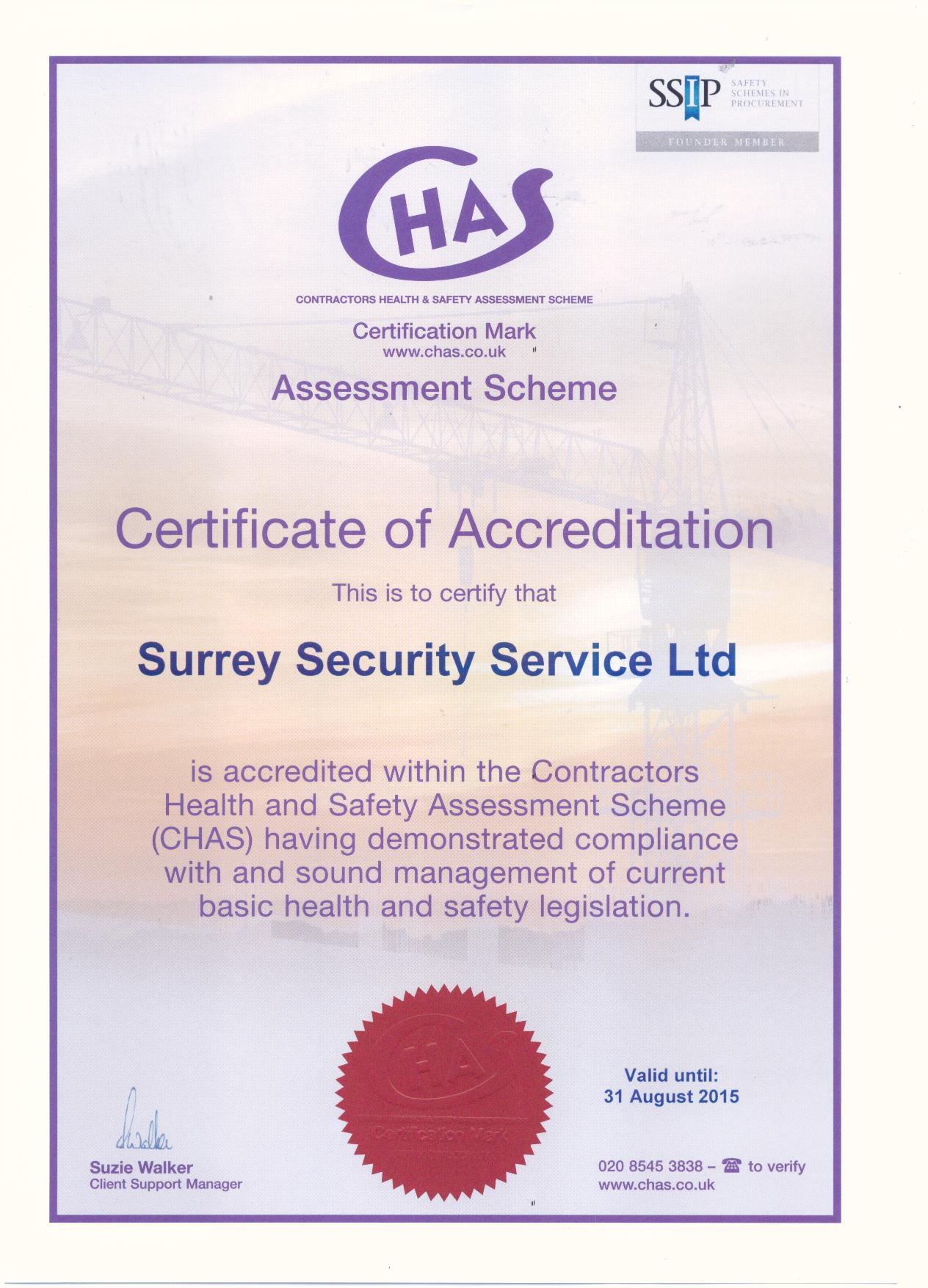 Our Accreditation Certificates