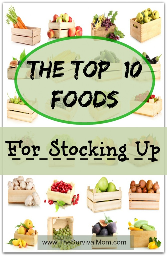 top 10 foods for stocking up