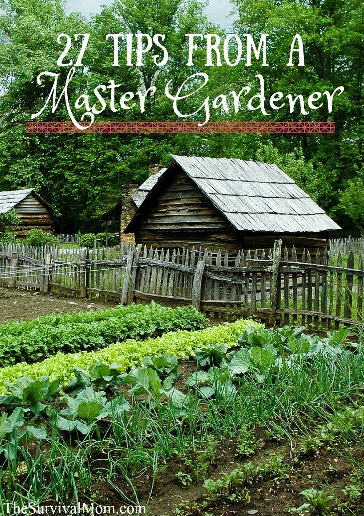 27 Tips from a Master Gardener via The Survival Mom