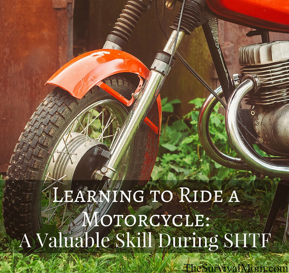 learning to ride a motorcycle