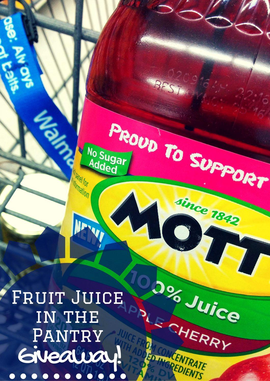 Mott's Fruit Juice giveaway