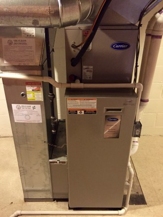 Newer high efficiency furnace and A/C