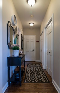 Hallway off kitchen to garage and laundry