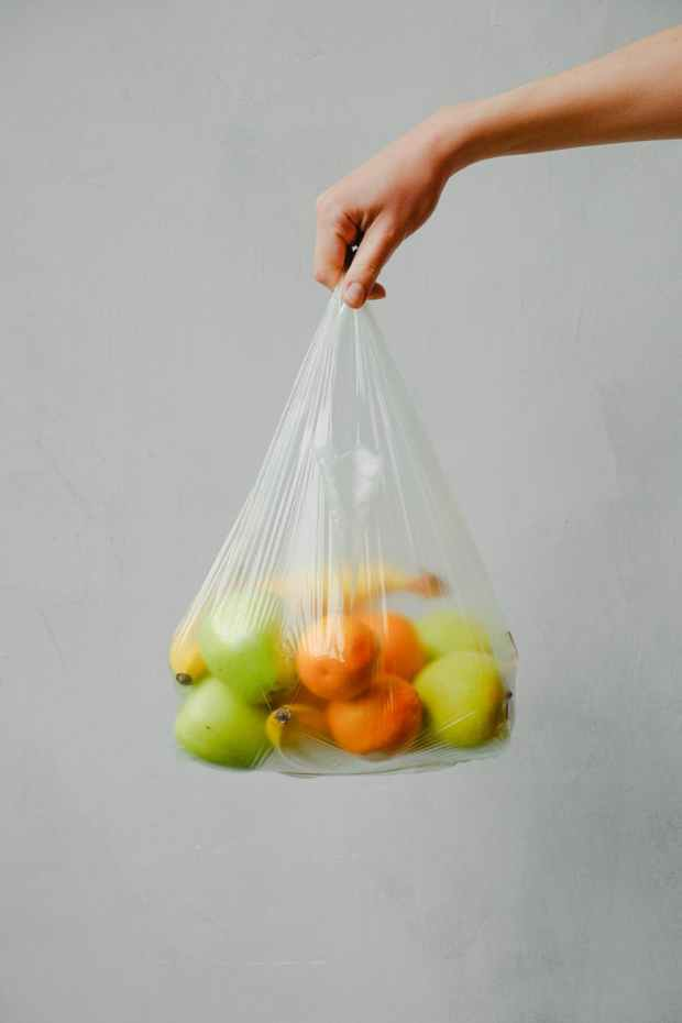 fruits in a plastic bag