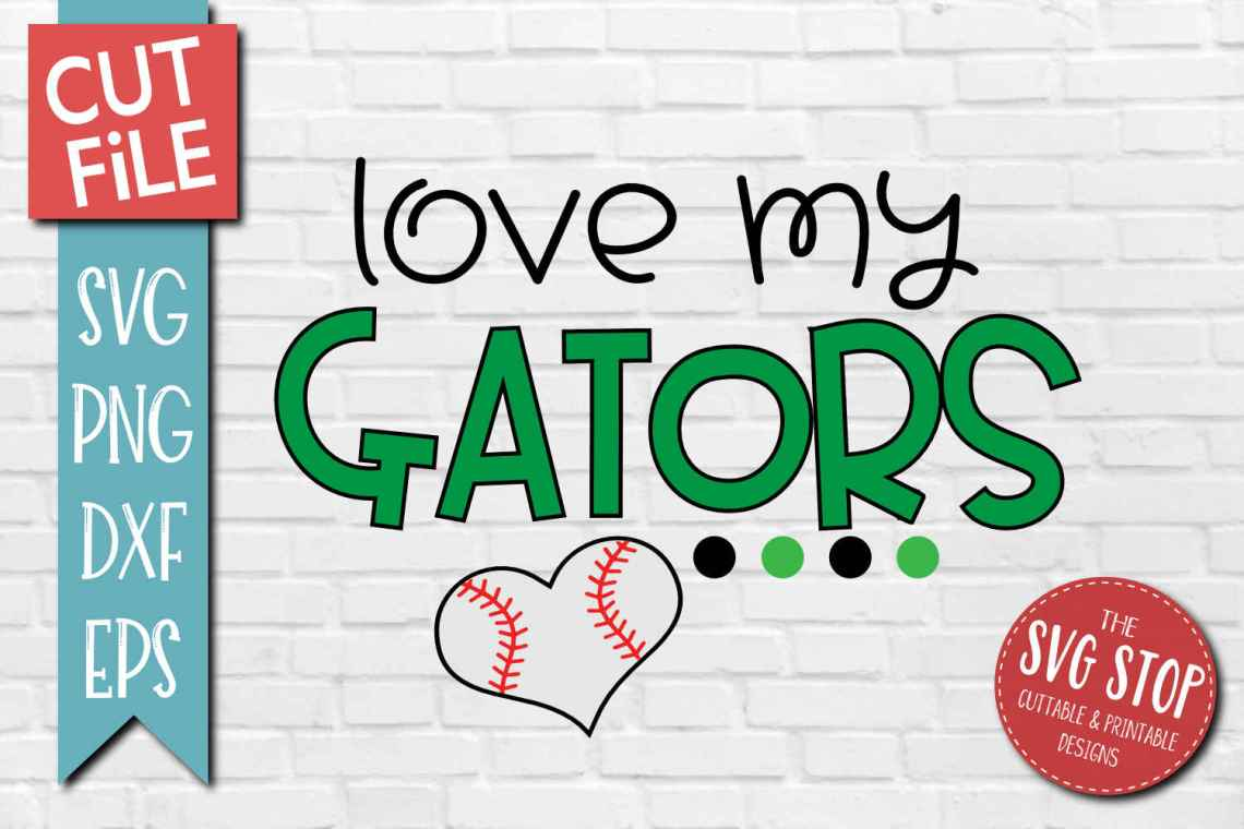 Download Baseball Love Gators - SVG, DXF, PNG, EPS - Cut File