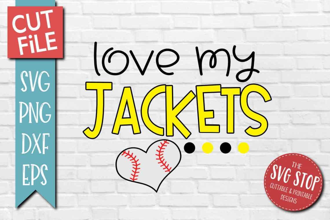 Download Baseball Love Jackets - SVG, DXF, PNG, EPS - Cut File