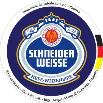 Schneider Weisse Original, 500ml. Schneider Weisse Aventinus (Bock), 500ml, 8.2% or 4.1 units - Powerful, dark, moreish weizen