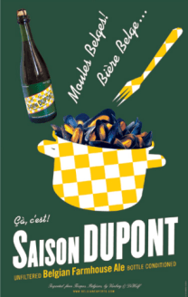 Dupont Biere De Miel (Honey), 750ml, 8.0% or 6.0 units - Superbly complex strong honey ale brewed since the 19th century. The lovely label is an exact copy of the Art Nouveau original Dupont Biolegere (Saison), 250ml, 3.5% or 0.9 units - Tasty, organic beer of moderate strength. Dupont Blanche De Hainaut (Wheat), 330ml, 5.5% or 1.4 units - Refreshing wheat beer balancing acidity and an orangey sweetness. Dupont Moinette Blonde (Blonde), 330ml, 8.5% or 2.8 units - First class, complex Wallonian blonde. Dupont Monks Stout (Stout), 330ml, 5.2% or 1.7 units - Good old-fashioned stout, newly reintroduced. Dupont Saison Dupont (Saison), 330ml, 6% or 2.0 units - Tasty Wallonian summer beer