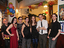 The staff suited and booted for their Christmas party at the Swan and Rushes