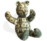 money teddy bear