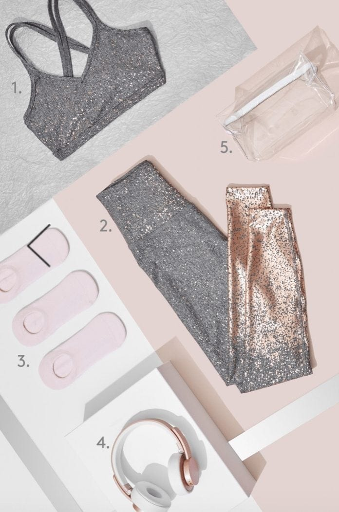 ALLOY OMBRE HIGH WAISTED MIDI LEGGING Rose Gold