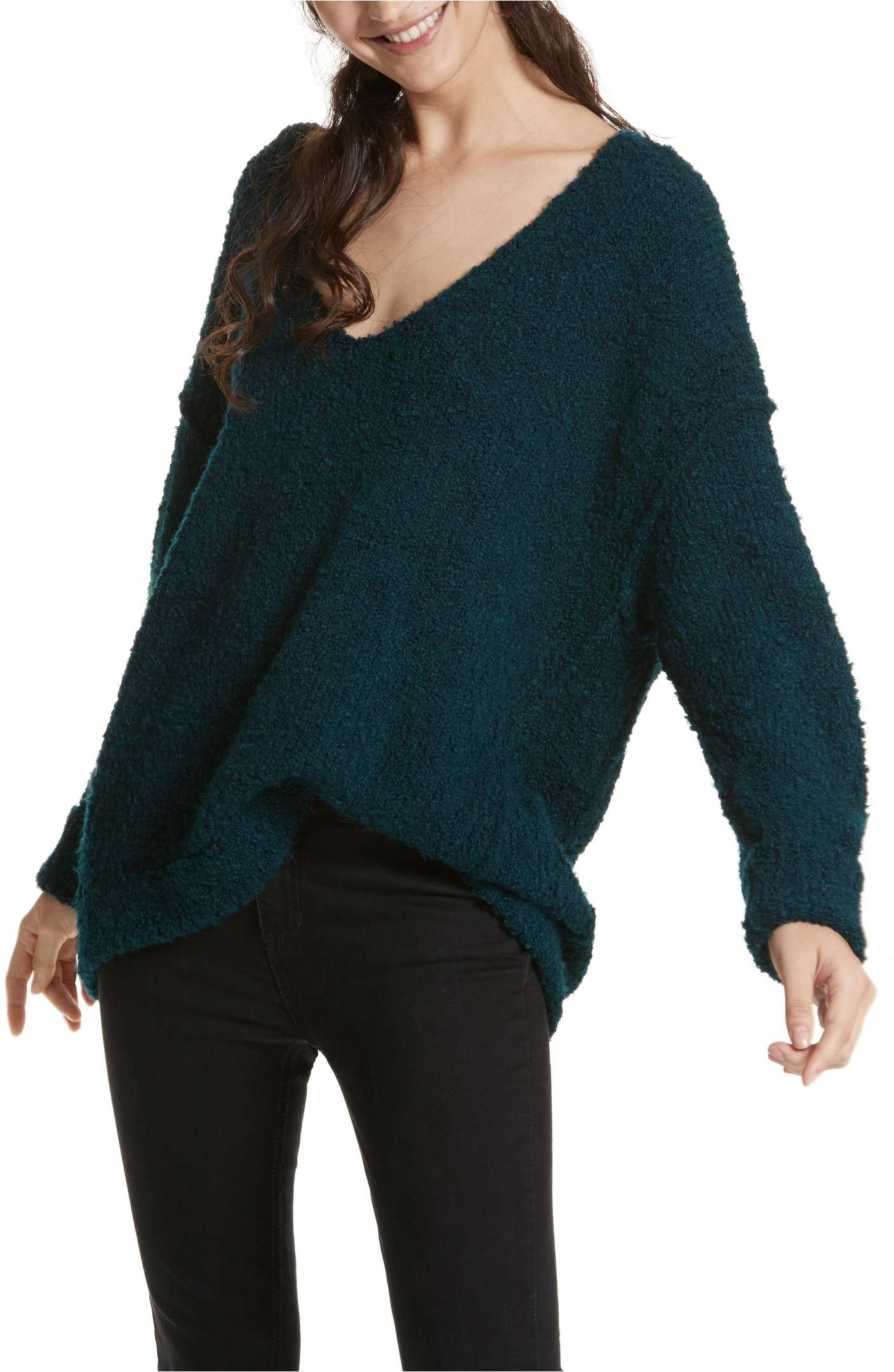 Free People Lofty V-Neck Sweater