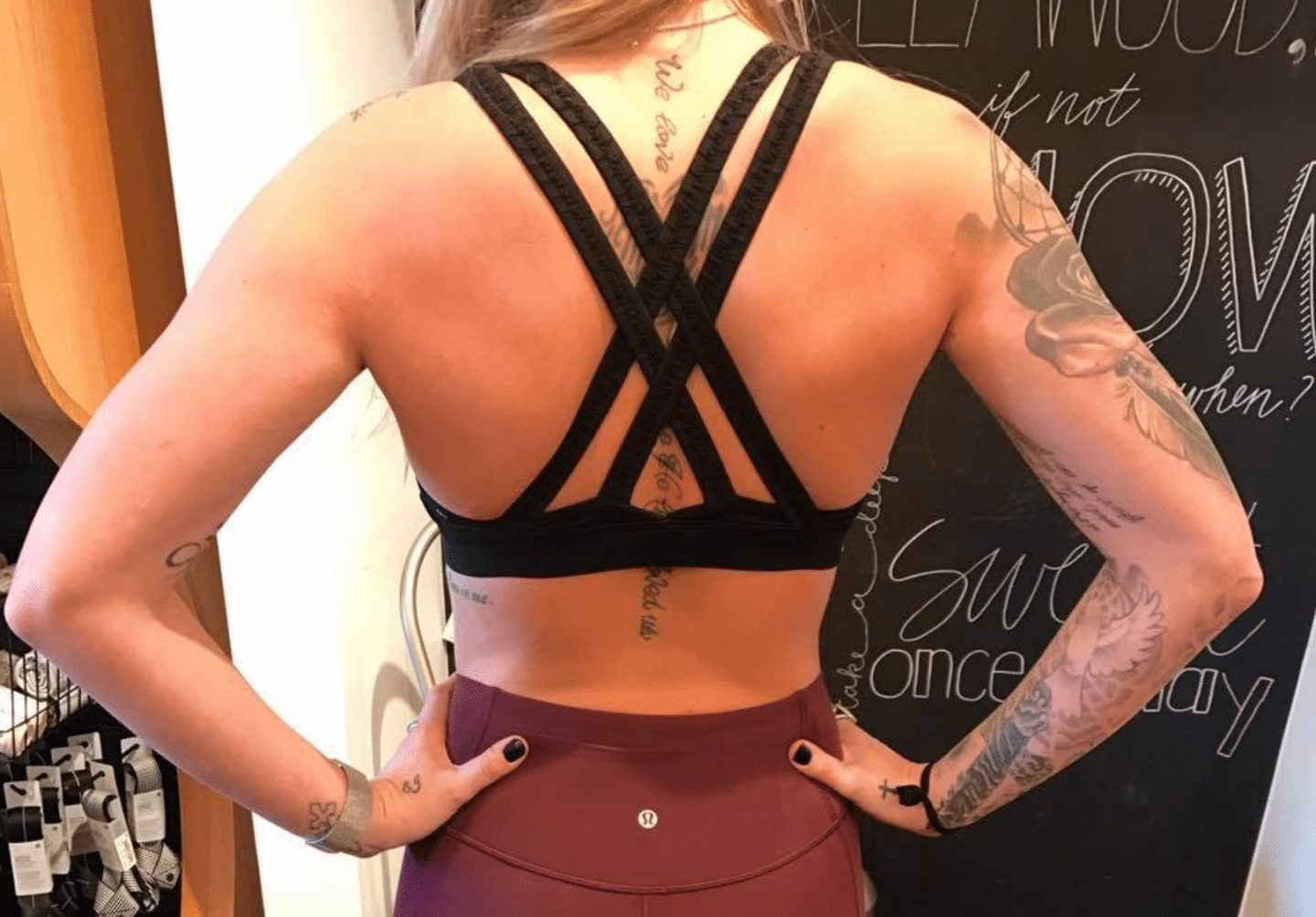 Energy Bra Braided, Play Off The Pleats Tight