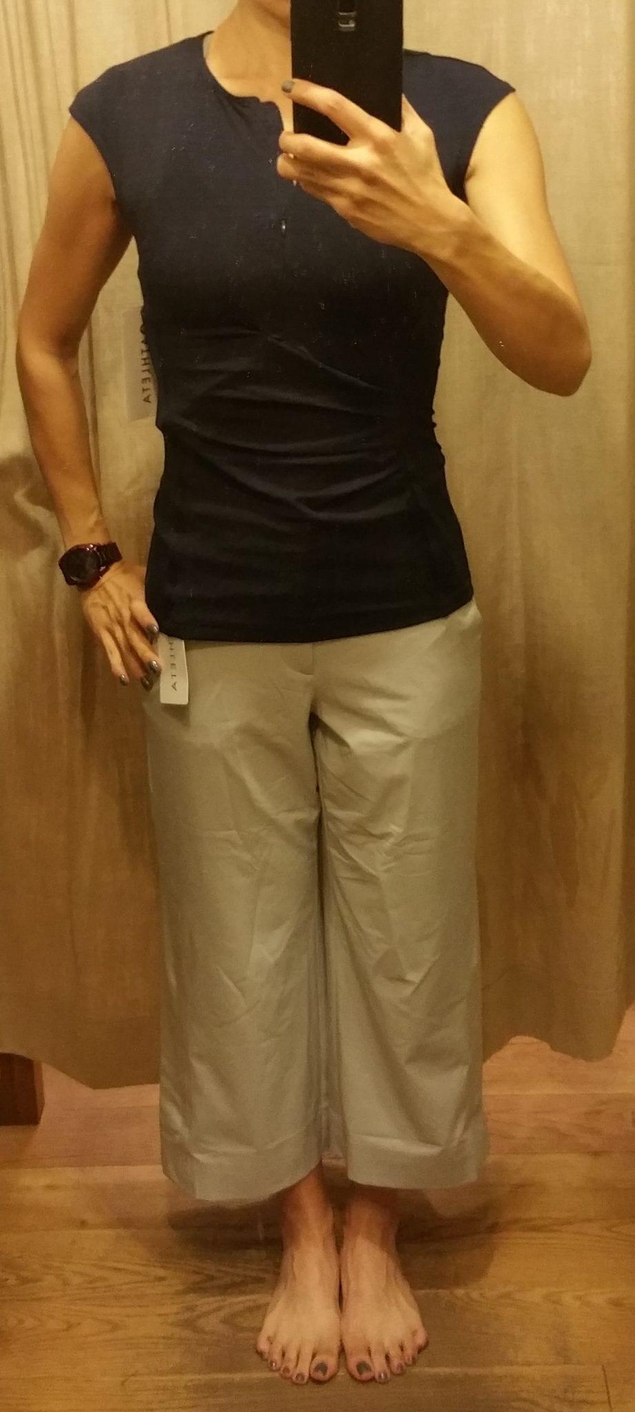 Athleta Tribeca Crop Pant and Pacifica Wrap Tank