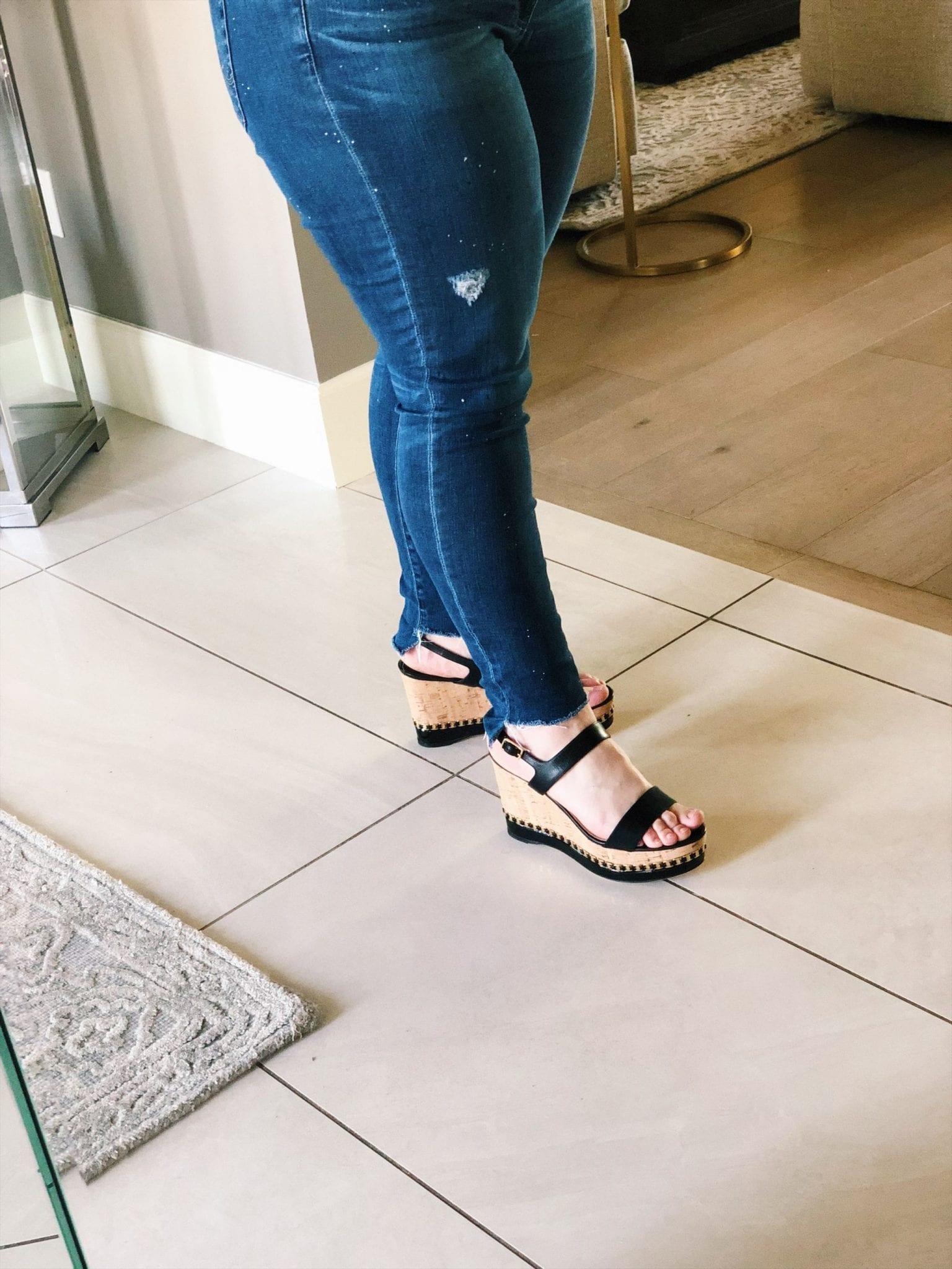 Salvatore Ferragamo Mollie Chain-Trim Wedge Sandal, platform wedge sandals