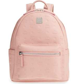 MCM Ottomar Leather Backpack Soft Pink