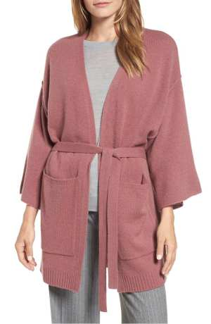 Belted Cashmere Kimono HALOGEN®