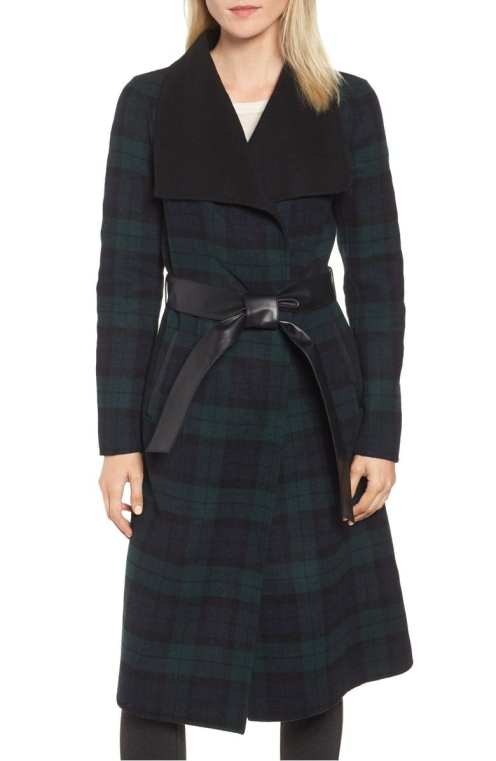 Double Face Wool Leather Belted Coat Mackage Nordstrom Anniversary Sale Meghan Markle