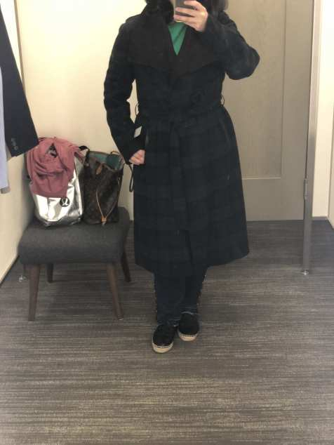 Mackage Plaid Wool Belted Coat, Nordstrom Anniversary Sale 2018 Fitting Room Try-Ons