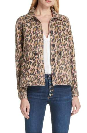 Mercer Leopard Print Jacket VERONICA BEARD