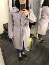 Double Face Wool Blend Wrap Front Coat BADGLEY MISCHKA