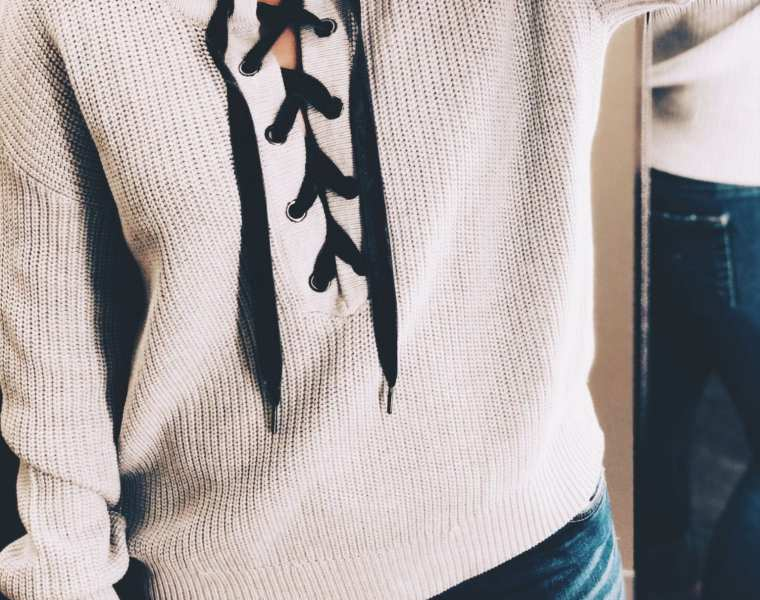 Rails Olivia Lace-Up Sweater