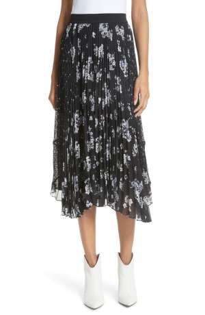 Pleated Hydrangea Skirt REBECCA TAYLOR