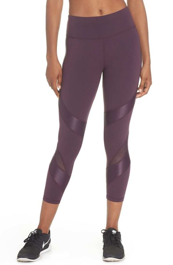 Power Wetlook Crop Leggings SWEATY BETTY