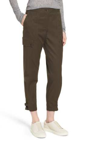Tab Over Cotton Utility Pants NORDSTROM SIGNATURE