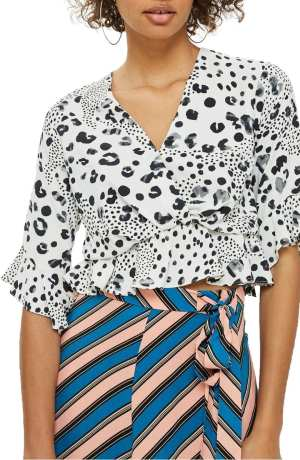Twist Peplum Hem Top TOPSHOP