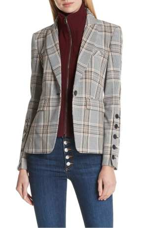 Veronica Beard Steel Jacket with Removable Turtleneck Dickey