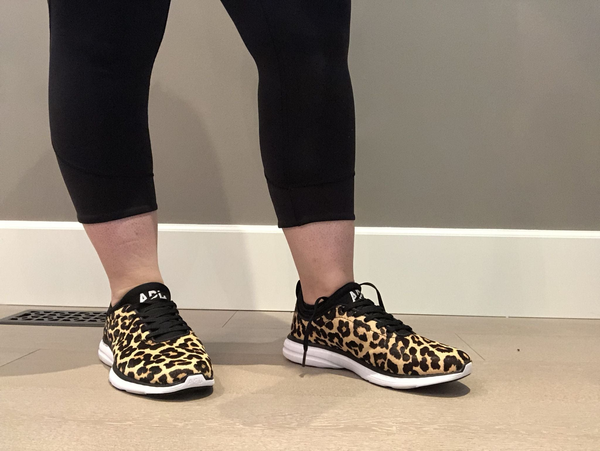 Athletic Propulsion Labs Phantom Leopard Black White Sneakers Calf Hair
