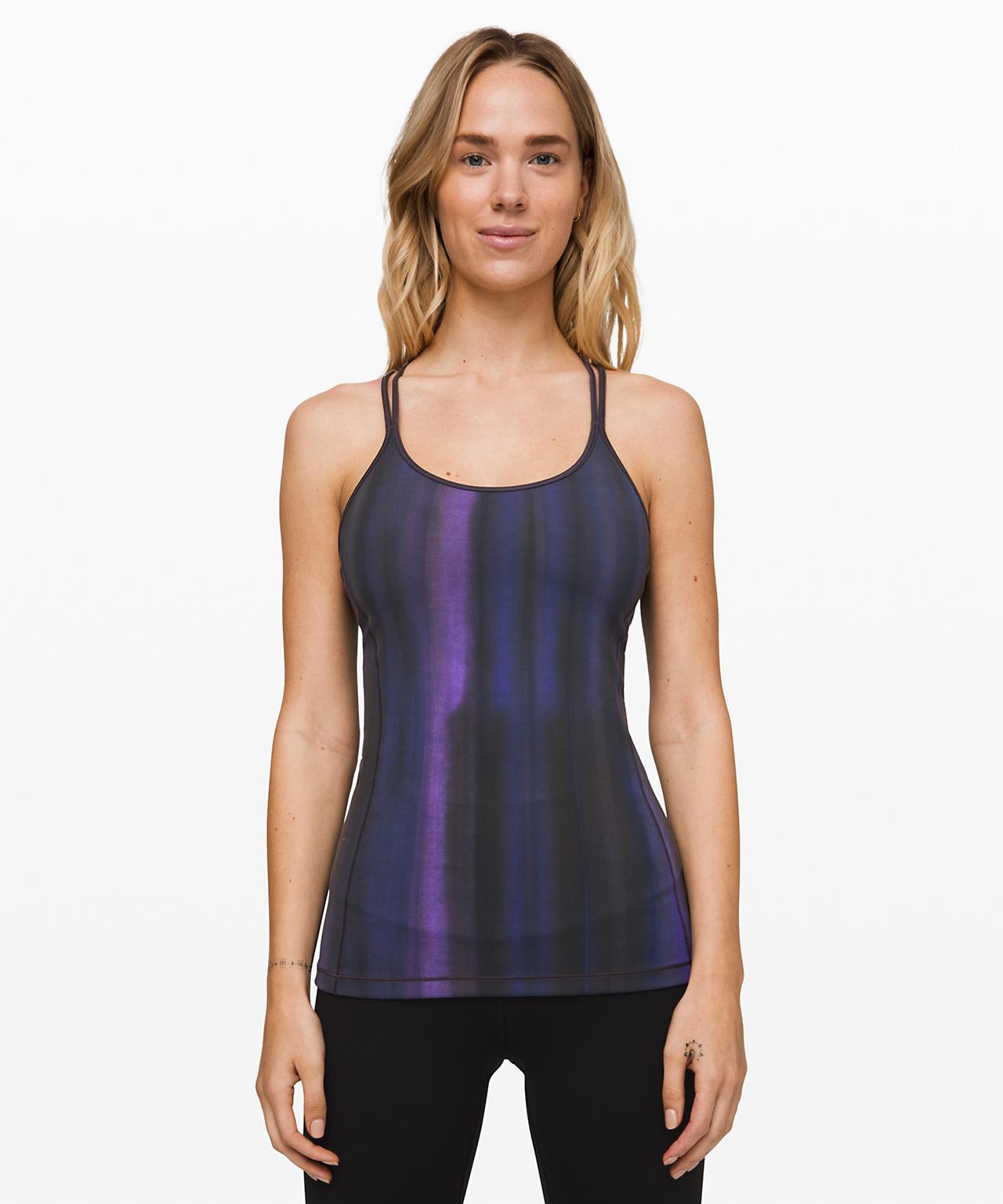 Free To Be Tank Everlux , Brushed Spray Dye Lunar Purple