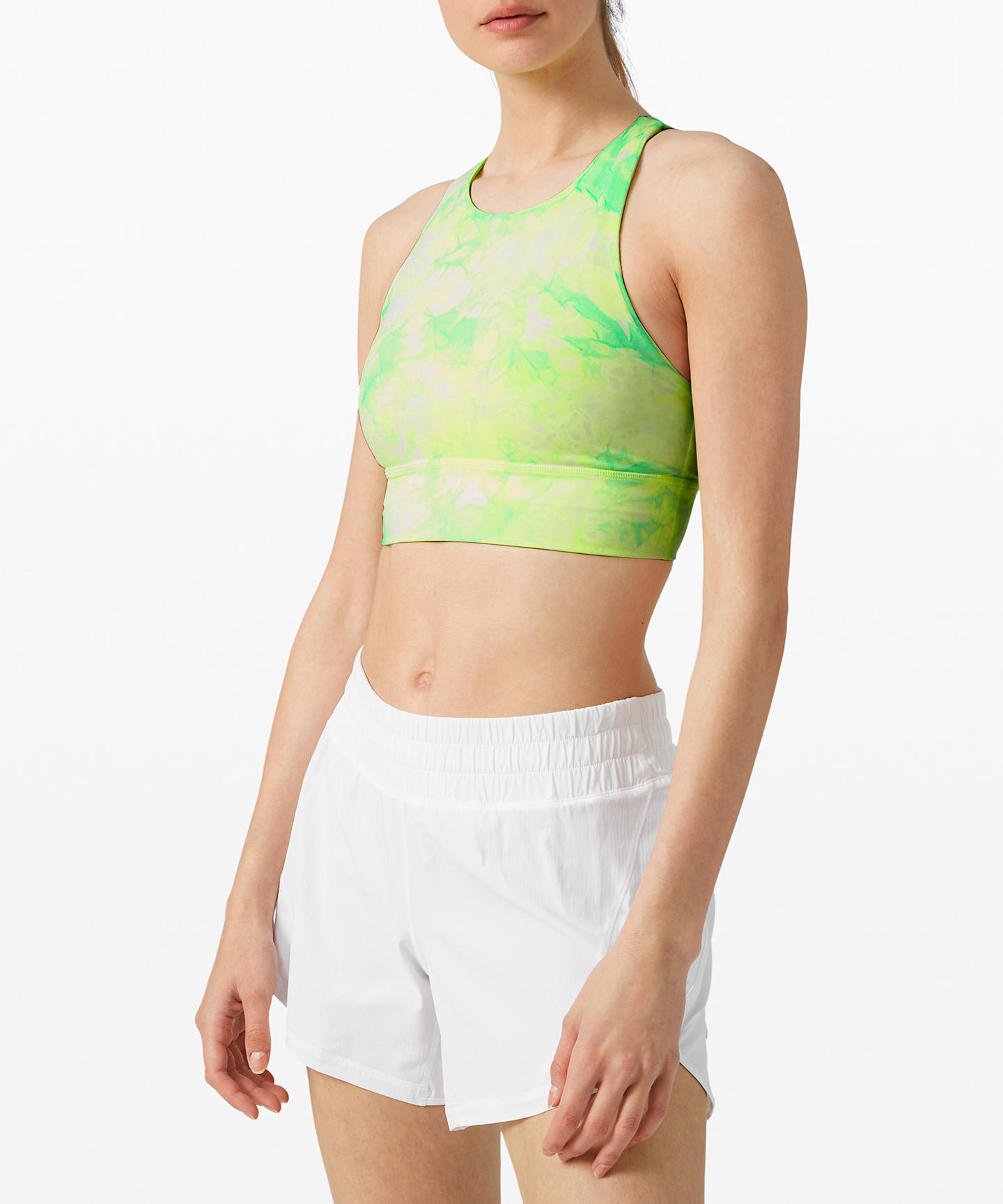 energy bra high neck long line shibori tie-dye neon_lululemon