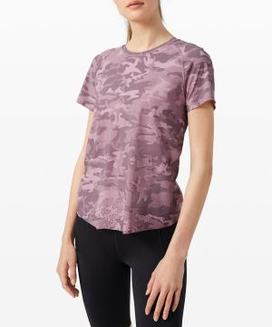 Quick Pace Short Sleeve incognito camo pink taupe