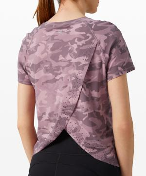 Quick Pace Short Sleeve incognito camo pink