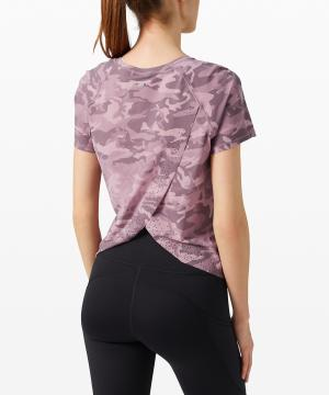Quick Pace Short Sleeve incognito pink camo 2