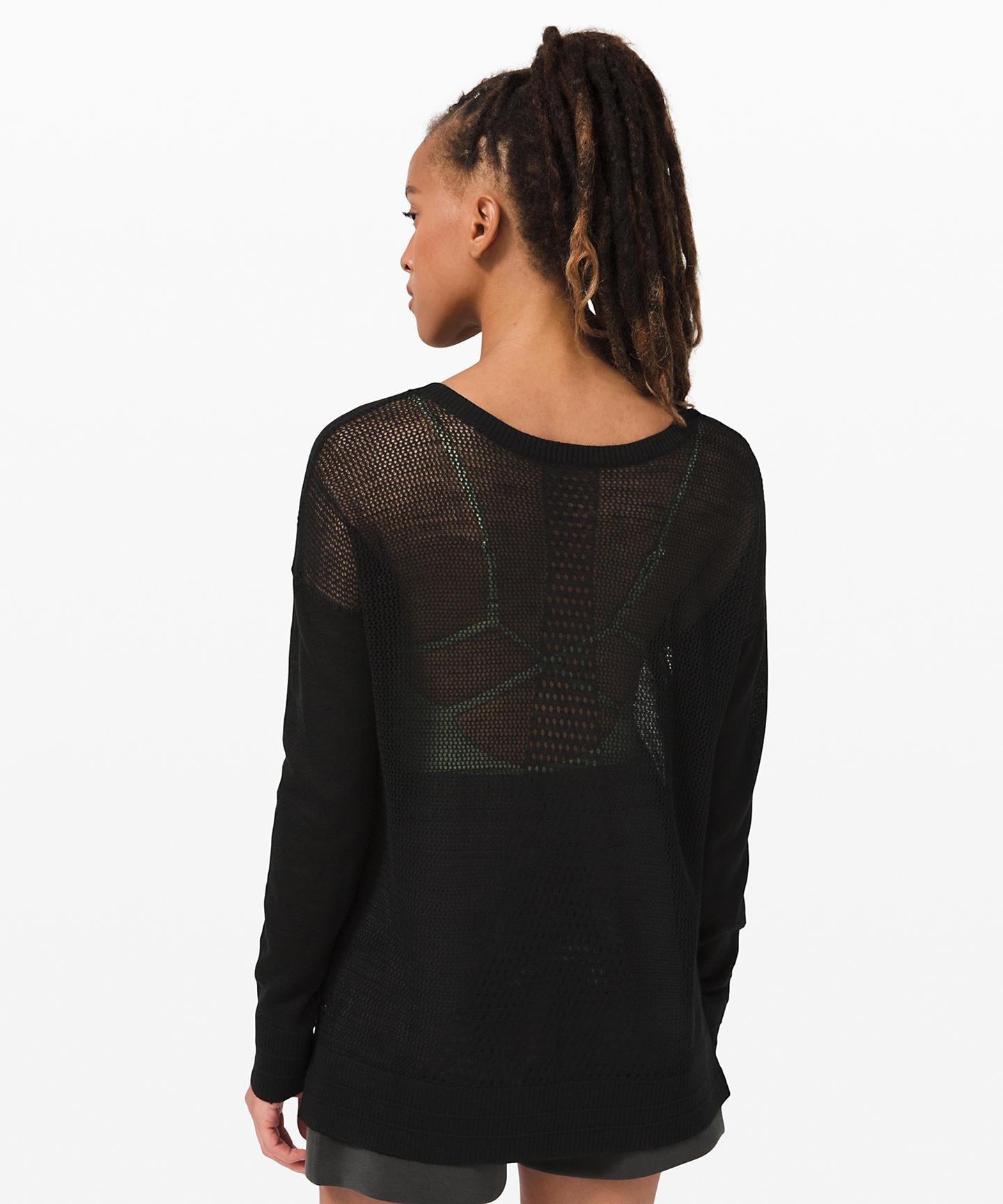 Well Being Crew Sweater Linen_black