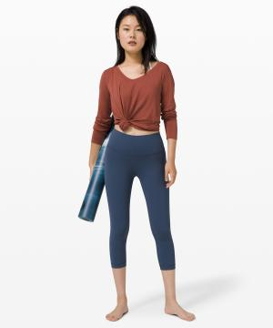 Wunder Under Crop (High-Rise) Full-On Luxtreme 21 Iron Blue 2