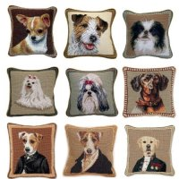 What A Bark! 25 Of The Striking Dog Needlepoint Pillows ...