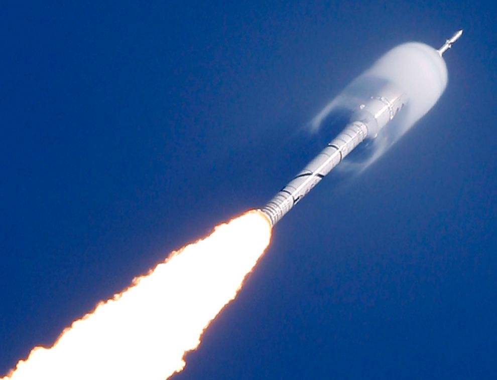 Lancement d'Ares I-X sur le site du Boston Globe