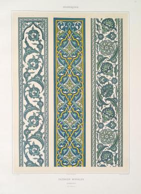 Prisse d'Avennes - L'art arabe 6 - faïences murales bordures (XVIe. siècle) (1877)
