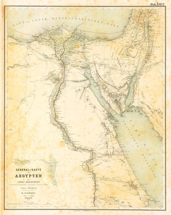Denkmäler aus Ägypten und Äthiopien (Karl Richard Lepsius) carte