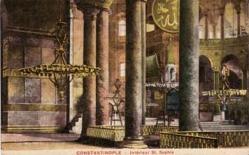 Vieilles cartes postales - Istanbul - 03 - Intérieur de Sainte-Sophie