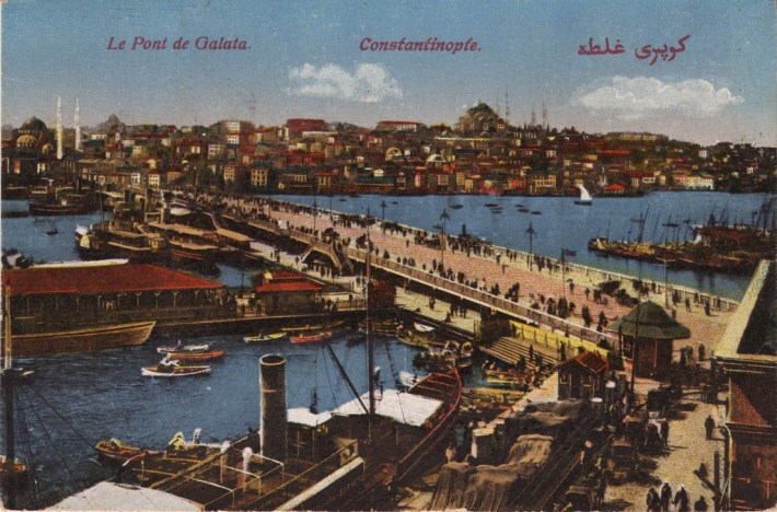 Vieilles cartes postales - Istanbul - 13 - Pont de Galata