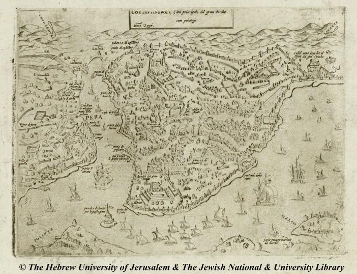 04 - G.F. Camocio - Costantinopoli -Isole famose, porti, fortezze, e terre maritime - 1572