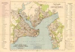 15 - Carte de Constantinople - Société Anonyme Ottomane d'Etudes et d'Entreprises Urbaines - 1922