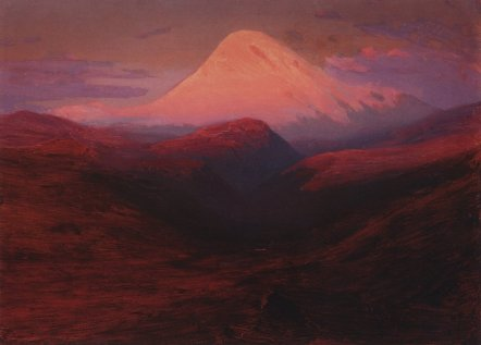 Arkhip Ivanovich Kuindzhi - Elbrouz le soir, coucher de soleil rose - 1908