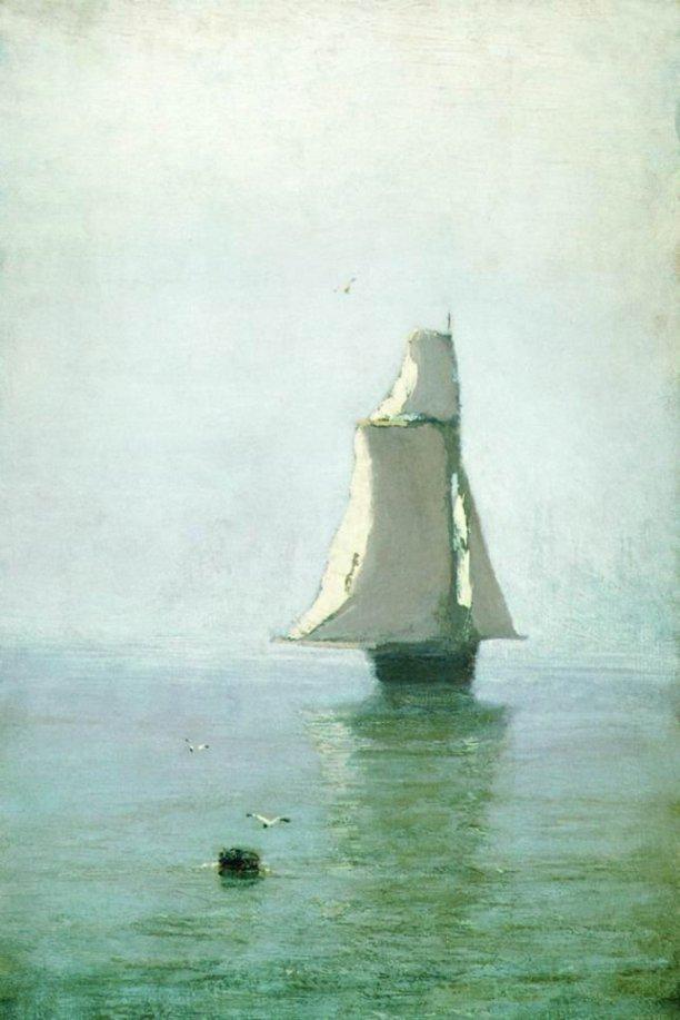 Arkhip Ivanovich Kuindzhi - Mer avec un bateau - 1890